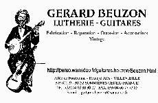 Guitares Gérard Beuzon